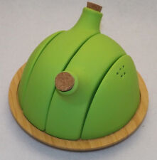 Four Piece Set - Salt, Pepper, Vinegar, & Oil - Modern Bright Green Centerpiece