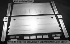 Chevy Sedan 2 & 4 Door Rear Floor Pan Kit 1st Section 1937-1939 EMS# 521