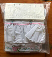 NIP Pair Martex Pillowcases  Atelier Pink Blue Floral Ruffled Standard