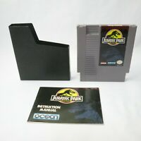 Nintendo NES Jurassic Park Video Game Cartridge *Authentic TESTED!! Free shippin