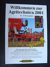 0109) VÄDERSTAD Neuheiten zur Agritechnica '01 - Prospekt Brochure 2001