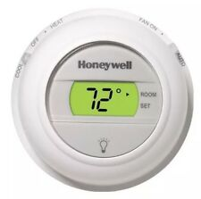 NEW White Honeywell T8775C Round Digital non programmable thermostat Heat & Cool