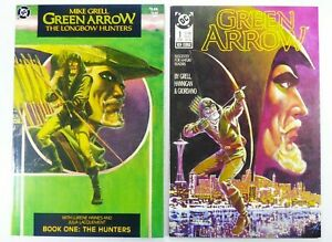DC GREEN ARROW (1989) #1 + LONGBOW HUNTERS #1 Mike GRELL Lot NM Ships FREE!