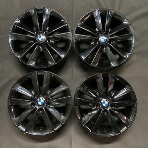 """Genuine BMW 141 17"""" Alloy Wheels: Gloss Black E81 E82 E87 E88 Z3 E46 Refurbished"""