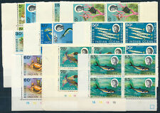 BRITISH INDIAN OCEAN TERRITORY 1968 DEFINITIVES SG16/24a PLATE BLOCKS OF 4 MNH