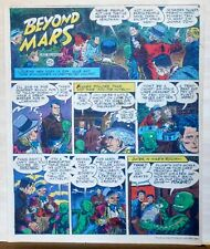 Beyond Mars by Jack Williamson - Army Times full tab Sunday page - July 18, 1954