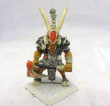 Warhammer Beast Chaos Beastmen Lord Wargor Champion painted oop metal