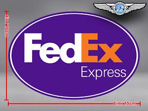FED EX FEDEX EXPRESS LOGO OVAL DECAL / STICKER 6 x 4 in / 15 x 10 cm