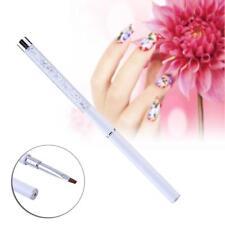GEL Nail Art Gel Design Polish Painting Brush Dotting Drawing Pens Kit White AC