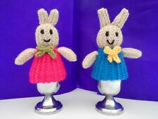 New hand knitted, sweet Bunny egg cosies x 2