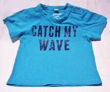 GUMBOOTS BABY BoYS T SHIRT TOP SUMMeR SIZE 18 M STUDS AQUA CATCH MY WAVE #CL40