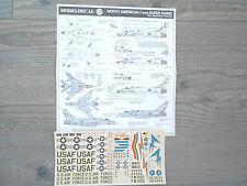 "F-100D SUPER SABRE ""4 USAF SILVER/NAM CAMO"" MODELDECAL 1/72"