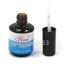 14ml Nail Art UV Topcoat Non Sticky Top Coat Seal Glue Acrylic Gel Polish Gloss