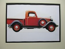 1935 Dodge  Pickup KC   artist art Auto Museum Full color  Illustrated
