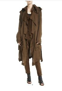 NEW $995 URBAN ZEN Washed Twill Slim-Fit Tapered-Leg Jodhpur parachute Pants M L