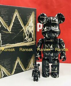 Medicom 400% + 100% Bearbrick 2021 Jean-Michel Basquiat #8 be@rbrick 2pcs 08