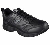 Black Skechers shoes Slip Resistant Memory Foam Work 77111 Men relaxed EH Safety
