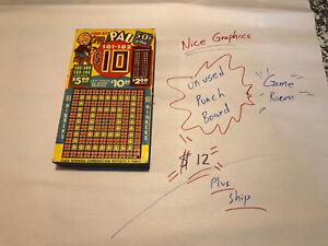 Vintage Punch Board Gambling Game