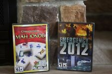 EMERGENCY 2012 THE WORLD IS OUT OF CONTROL & CHAMPIONSHIP MAH JONGG PC CD ROM