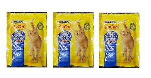 3 packs x Purina Gocat Crunchy and Tender with salmon tuna and vegetables, 375g.