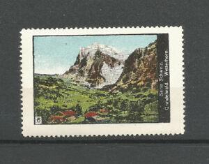 Switzerland poster stamp/label (#6 Grindelwald Wetterhorn)