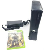 Microsoft Xbox 360 S Slim 250 GB Console W/ AC Adapter & Game Tested & Works