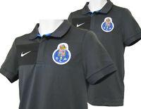New Vintage NIKE PORTO Football Polo Shirt Polyester Grey S