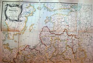 Mapa Jana Babireckiego Polska w Roku 1771 Map of Poland ca 1900