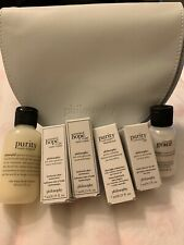 New in Box Philosphy 6 Piece Travel Size Gift set with Cosmetic bag