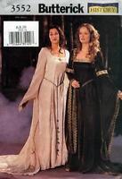 2002 Renaissance Dress 6/8/10 Sewing Pattern Butterick 3552 New OOP