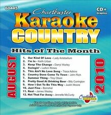Various Artists : Karaoke: Country Hits of Month - August CD