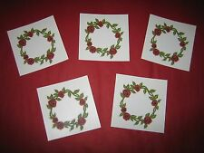 LOT OF 5 ~ Belly Button RED ROSES VINE Temporary Tattoo