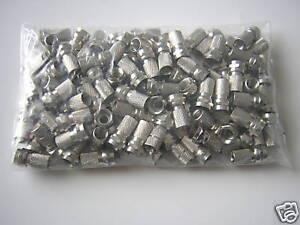 100 x F-Stecker 7mm gehärtet für Koaxkabel Koax-Kabel