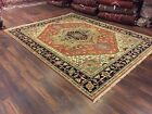 Sale Genuine Hand Knotted Indo Oushak Heriz Geometric Area Rug Carpet 7'7x9'6,20