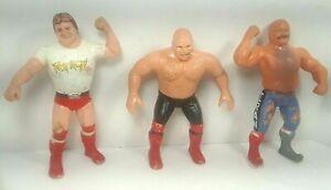 LJN Titan Sports WWF Figures: George The Animal Steele, Roddy Piper, Iron Sheik