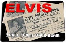 Elvis Presley Concert Ticket Shall I Come Back Again Design Indoor Door Rug