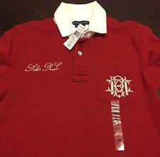 NWT New Men's Ralph Lauren Long Sleeve #3 Rugby Jersey Shirt Small $59.99