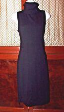 Autumn Cashmere Black Dress 100% Cashmere Size Medium