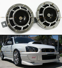 SILVER JDM 12V ELECTRIC GRILL MOUNT COMPACT SUPER BLAST TONE LOUD HORN FOR SCION