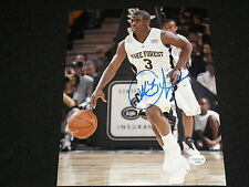 CHRIS PAUL Signed Wake Forest Basketball 8x10 Photo Autograph Clippers RARE A