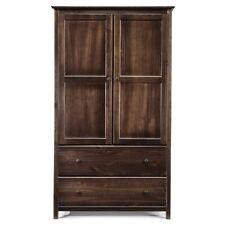 Grain Wood Furniture Shaker 2-door Solid Wood Armoire Espresso 41x72x22