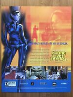 No One Lives Forever PS2 Playstation 2 PC 2002 Vintage Poster Ad Art Print Rare