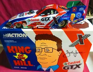 1/24 ACTION 2003 MUSTANG FUNNY CAR, KING OF THE HILL--CASTROL GTX, JOHN FORCE