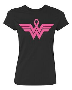 Superhero Ribbon Pink Logo - Breast Cancer Awareness Support Women's T-Shirt