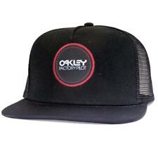 Oakley Lowdown Snapback Cap Jet Black Logo Adjustable Baseball Flat Peak Hat