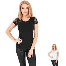 Unifarbene Kurzarm Damen-T-Shirts keine Mehrstückpackung