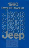 JEEP 1980 OWNERS MANUAL OWNER'S BOOK