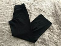 Eileen Fisher Solid Black Pull On Stretch High Waist Pants Women's XS