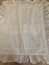 Pair~Simply Shabby Chic~100% Cotton~Cottage~White Ruffled Standard Pillow Shams