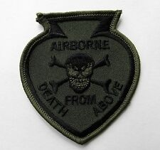 Airborne special Forces Death From Above Subdued Embroidered Patch 3.1 inches